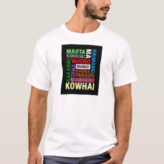 NEW ZEALAND MAORI COLOURS SUBWAY ART T-Shirt