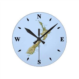 New Zealand Map Clock