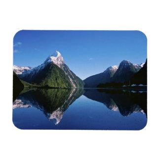 New Zealand, Mitre Peak, Milford Sound, Rectangular Photo Magnet