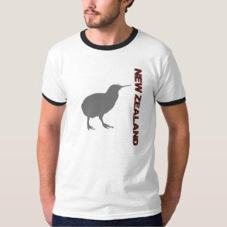 New Zealand Modern Kiwi Mens Ringer T-Shirt