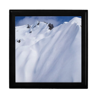 New Zealand Mountains, Aerial View.JPG Large Square Gift Box