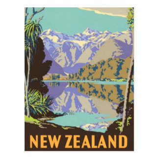 New Zealand Mountian Postcard