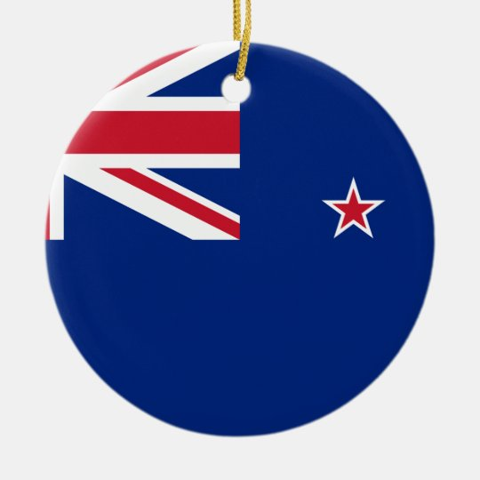 New_Zealand National World Flag Ceramic Ornament