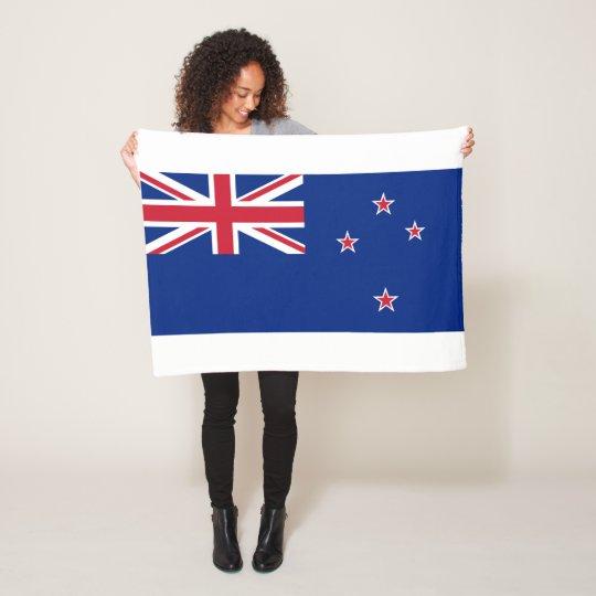 New_Zealand National World Flag Fleece Blanket