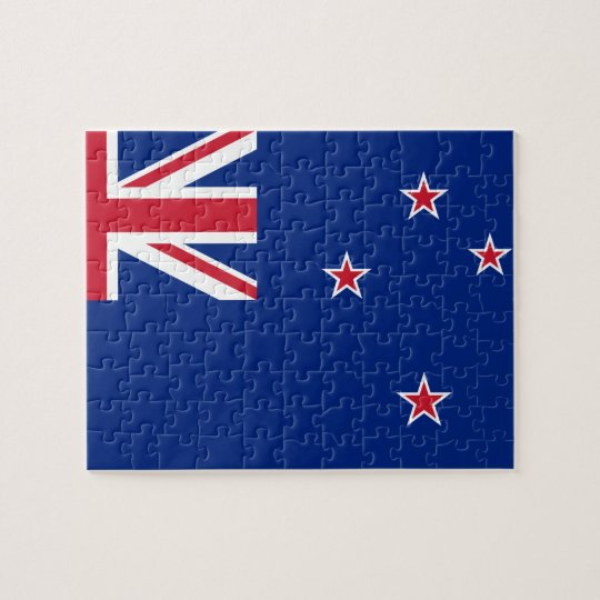 New_Zealand National World Flag Jigsaw Puzzle