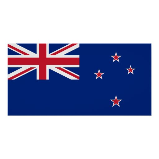 New_Zealand National World Flag Poster