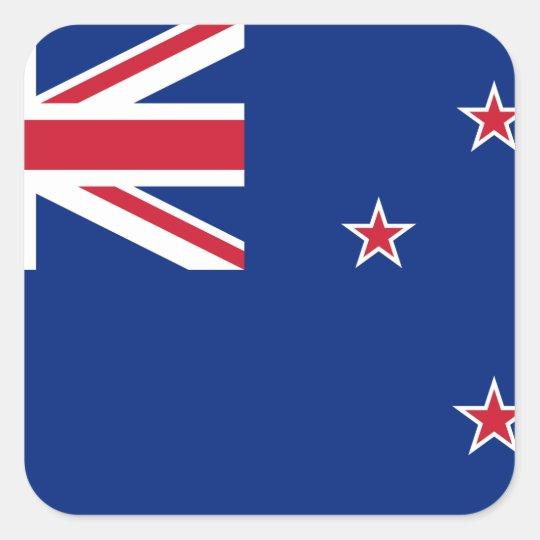 New_Zealand National World Flag Square Sticker