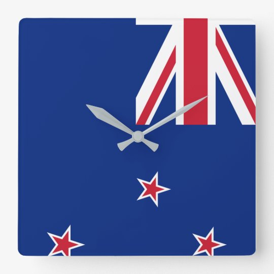 New_Zealand National World Flag Square Wall Clock