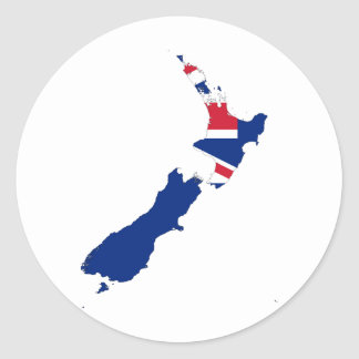 New Zealand NZ Classic Round Sticker