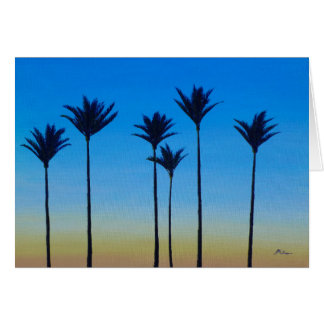 New Zealand NZ Nikau Dawn Palm Tree Greeting Card
