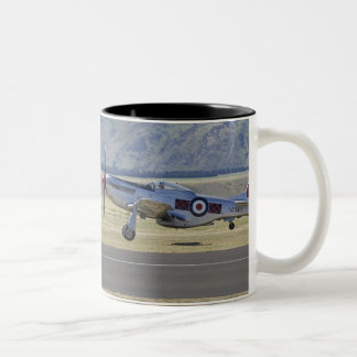 New Zealand, Otago, Wanaka, Warbirds Over 4 Two-Tone Coffee Mug
