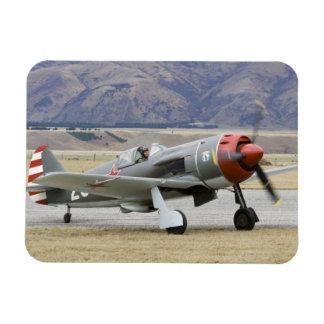 New Zealand, Otago, Wanaka, Warbirds Over 7 Rectangular Photo Magnet
