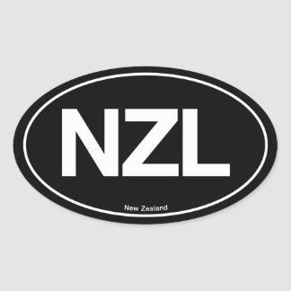 New Zealand Oval Oval Sticker