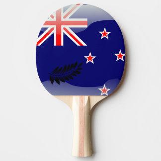 New Zealand polished flag Ping Pong Paddle