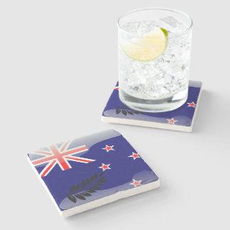 New Zealand polished flag Stone Coaster