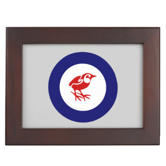 New Zealand Rock Wren Roundel Keepsake Box