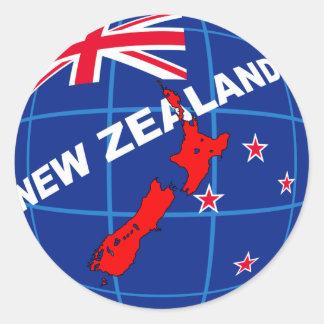 new zealand round sticker