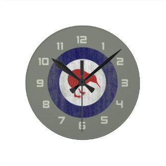 New Zealand roundel Round Clock