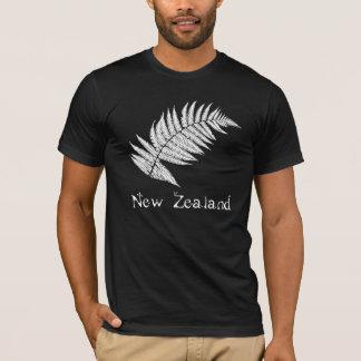 New Zealand Silver Fern Black Mens T-Shirt