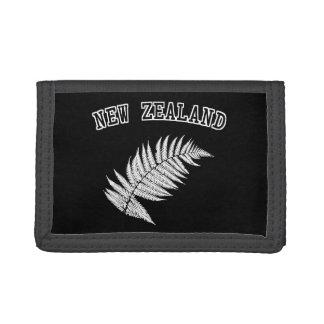 New Zealand Silver Fern Black Wallet