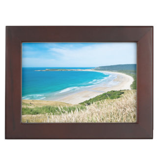 New Zealand, South Island, Catlins, Tautuku Bay Memory Boxes