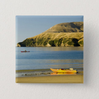 New Zealand, South Island, Marlborough Sounds. 2 15 Cm Square Badge