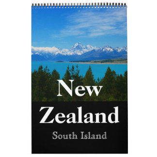 new zealand south scenery calendar