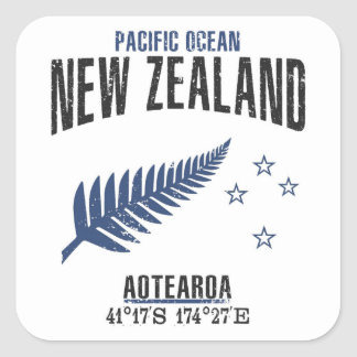 New Zealand Square Sticker
