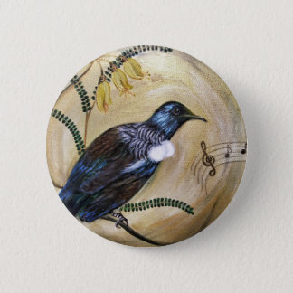 New Zealand Tui 6 Cm Round Badge