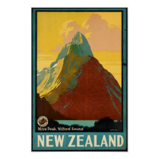 New Zealand Vintage Travel Advert Posters