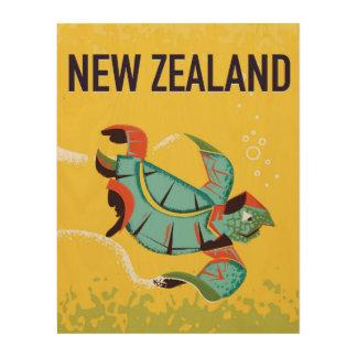 New Zealand vintage travel poster art.