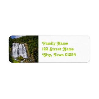 New Zealand Waterfall Return Address Label