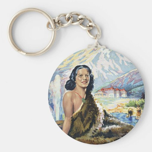 New Zealand: Wonderland of the Pacific Key Chain