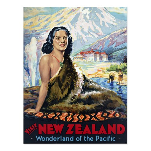 New Zealand: Wonderland of the Pacific Postcard
