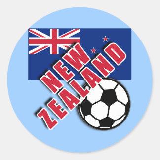 NEW ZEALAND World Soccer Fan Tshirts Round Sticker