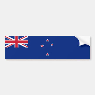 New Zealand/Zealander/Kiwi Flag Bumper Sticker