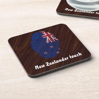 New Zealander touch fingerprint flag Coaster