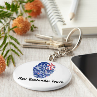 New Zealander touch fingerprint flag Key Ring