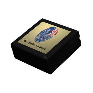 New Zealander touch fingerprint flag Small Square Gift Box