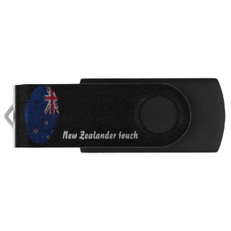 New Zealander touch fingerprint flag USB Flash Drive