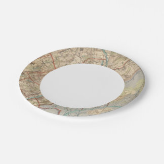 Newark and Paterson, New Jersey 7 Inch Paper Plate