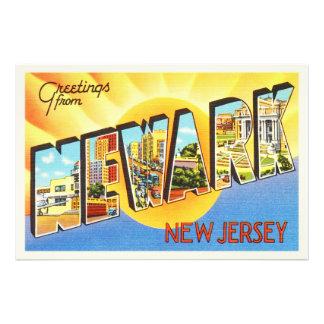 Newark New Jersey NJ Vintage Travel Postcard- Photo Art