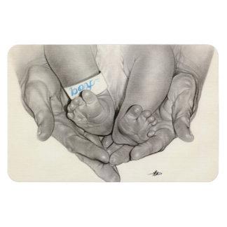 Newborn baby feet hands Premium Flexi Magnet
