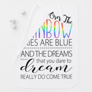 Newborn Baby Swaddle Blanket, Over the Rainbow Baby Blanket