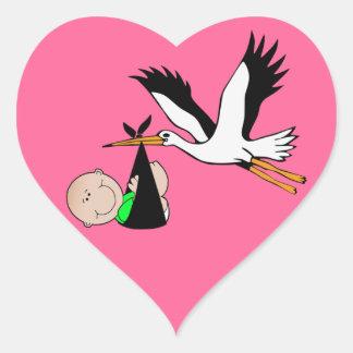 Newborn Delivery by Stork Heart Sticker