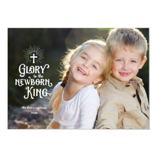 Newborn King | Holiday Photo 13 Cm X 18 Cm Invitation Card