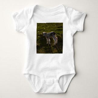 Newborn lamb baby bodysuit