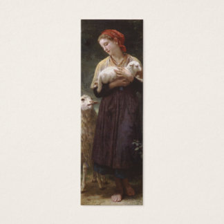 Newborn Lamb Bookmark by William Bouguereau Mini Business Card