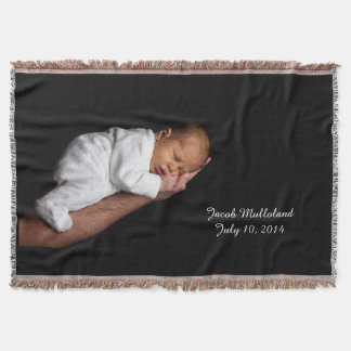 Newborn Photo Custom Throw Blanket
