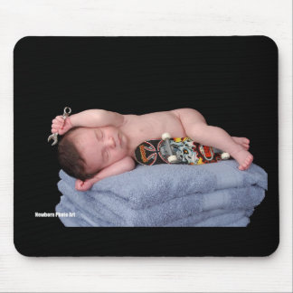 Newborn Skateboard Baby Mouse Pad